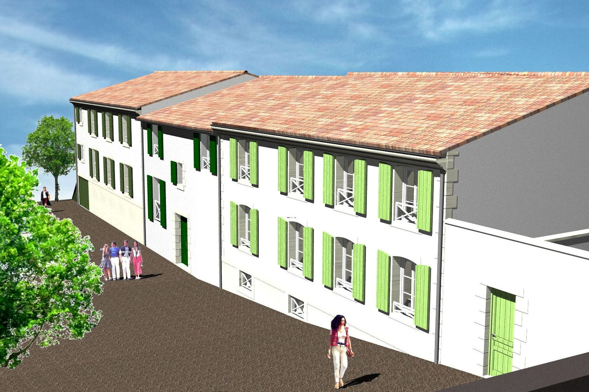 174 maison des archers alfa architecture for Habitation individuelle